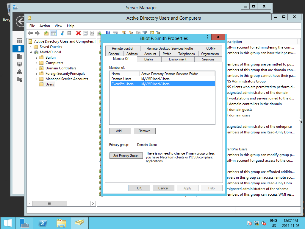 Create Active Directory Groups for Integration