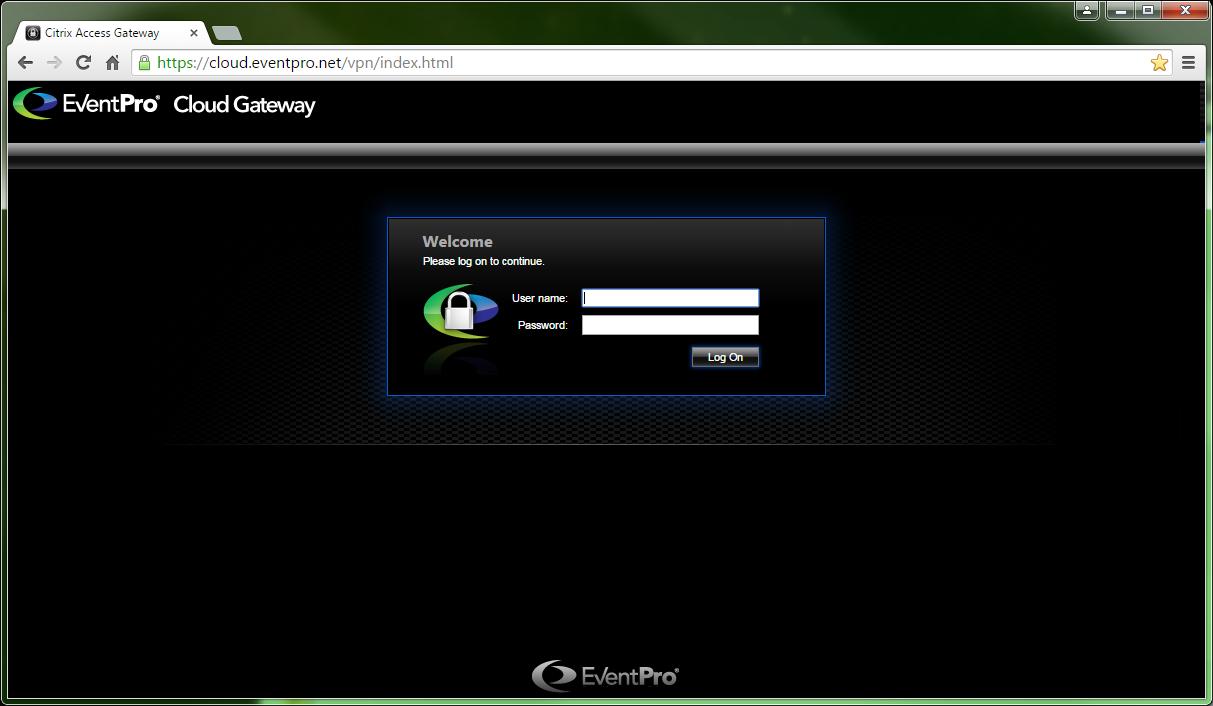 Login to Cloud Gateway