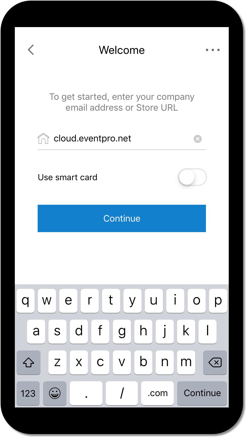 EventPro Cloud on Mobile Device